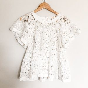 Anthro lace top